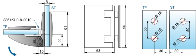 produkt detail duscht rband glas glas 90 nulllage 4f pillango. Black Bedroom Furniture Sets. Home Design Ideas