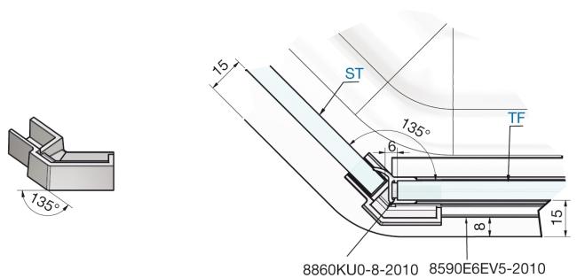 produkt detail f nfeckverbinder links t rband links. Black Bedroom Furniture Sets. Home Design Ideas